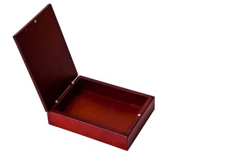 brown wooden box photo