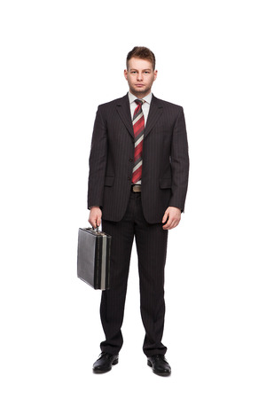 businessman with briefcase isolated Banco de Imagens
