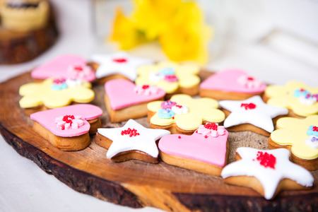 colorful cakes and candy on a  table