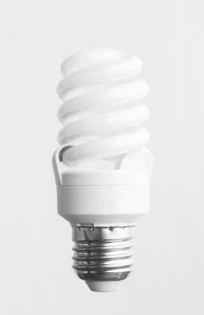 cfl: Energy saving light bulb over white background
