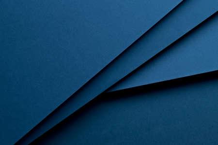 conception de matériaux de fond bleu foncé. Photo.