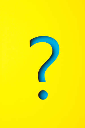 point d interrogation: Question mark en papier Banque d'images