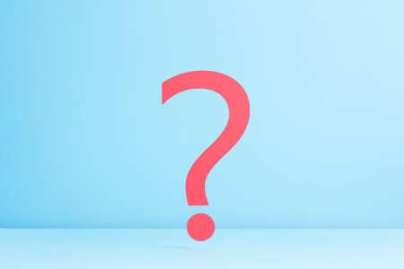 point d interrogation: Question d'interrogation sur fond bleu