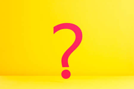 Question mark over yellow background