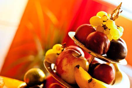 piramide alimenticia: Parte de la pir�mide de fruta para el postre
