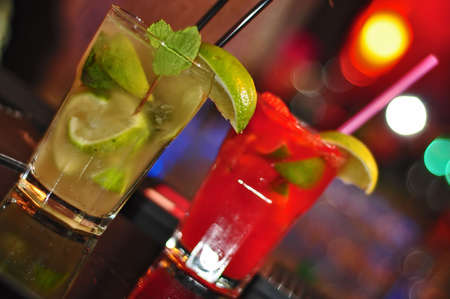 corked: Energy Mojito and Regular Mojito drinks served in a nightclub