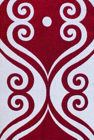 Detail of a symmetric texture, fabric photo