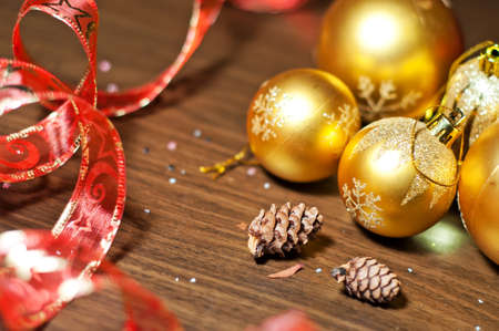 Christmas tinsel  with balls and decoration elements Stock Photo - 8475006