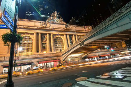 Grand Central New York, as seen from across the street at night Stock Photo - 13161123