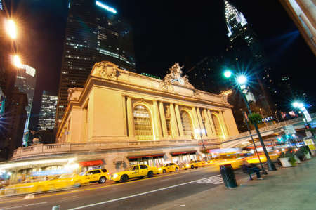 NEW YORK CITY, NY, USA - OCT 10: Historic NYC, Grand Central Terminal as seen from the street on Oct. 10, 2011 in New York City, New york, Usa, 2011.The world's largest train station  in the world by number of platforms: 44, with 67 tracks along them, bei