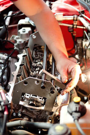 Mechanical working on car engine Stock Photo - 15448829