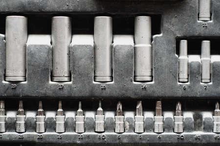 Set of adjustable metallic keys for auto mechanics Stock Photo - 17167694