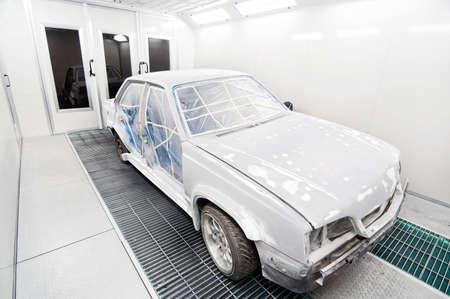 Car paint garage box with car body ready  photo