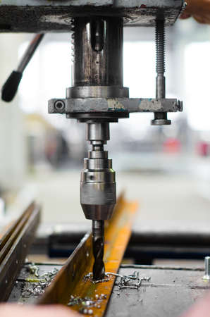 industrial engineer using a mechanical drill machine Stock Photo - 17502038