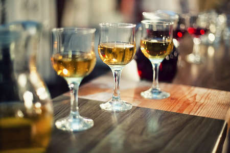 various types of exquisite wine in glasses at dress cocktail party Stock Photo - 21727684