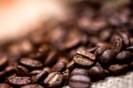 jamoke: pile of fresh and bio aromatic coffee beans Stock Photo