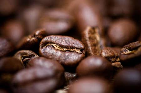 jamoke: macro coffee bean detail of aromatic bio coffee