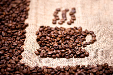 aromatic and fresh coffee beans  photo