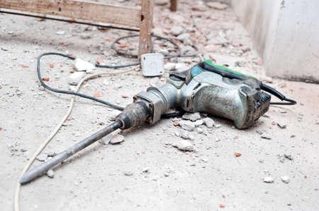 Pre�lufthammer: Bau-Tool, das mit Presslufthammer Abbruchschutt