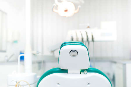 chairs: Detail of dentist chair at local dental private clinic