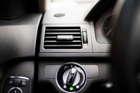 air flow: modern car air conditioning and ventilation system