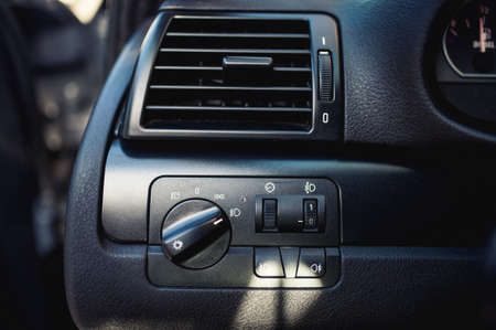 modern car ventilation system  Air conditioning of automobile interior and headlight controls photo