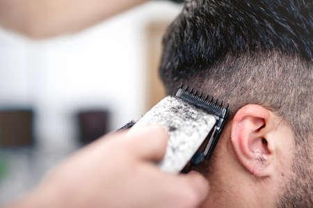barbero: hombres Foto de archivo
