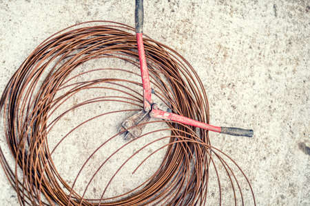 steel wire: Metal Scissors used in construction site and wire rod and steel wire, industrial tools