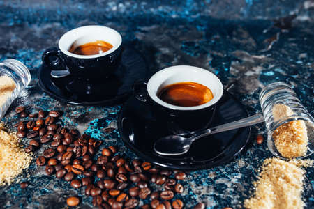 capacino: double  espresso served at restaurant and pub
