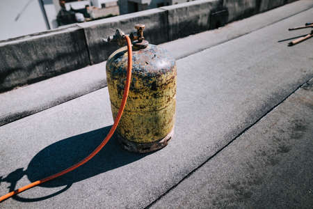 Details of propane gas used for melting bitumen at house waterproofing