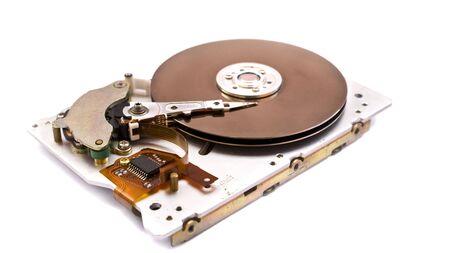 inside  modern hard disk drive   photo