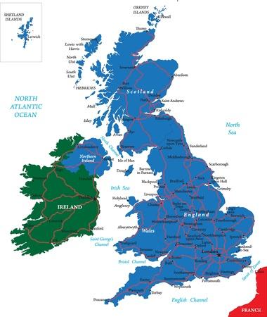 irland: Vereinigtes K�nigreich Karte