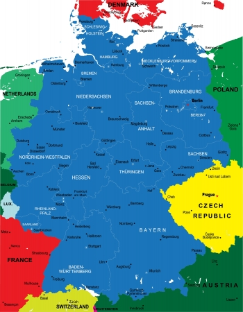 mapa politico: Political map of Germany