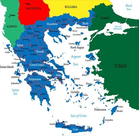 Greece-political map Ilustração