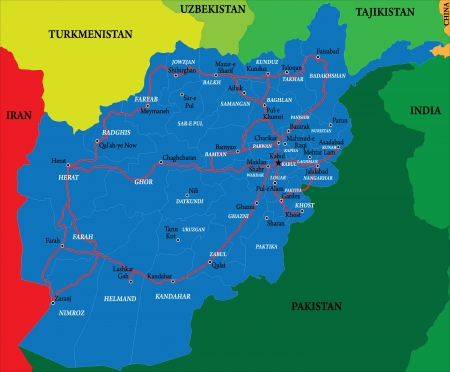 afghanistan: Afghanistan map