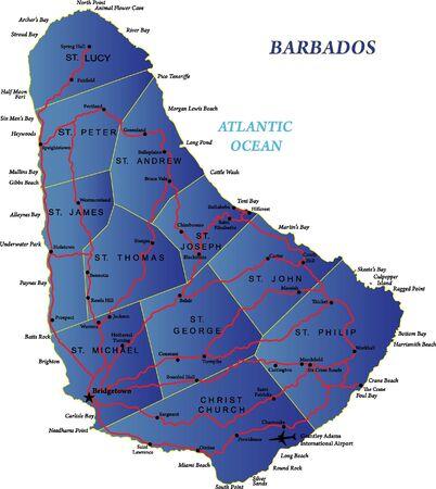 barbados: Barbados map