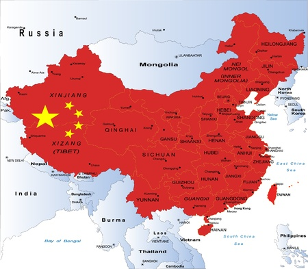 outline maps: China map