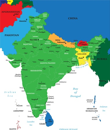 bangladesh: India map