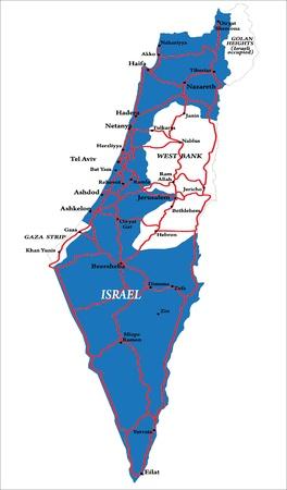Israel map Stock Vector - 14167480