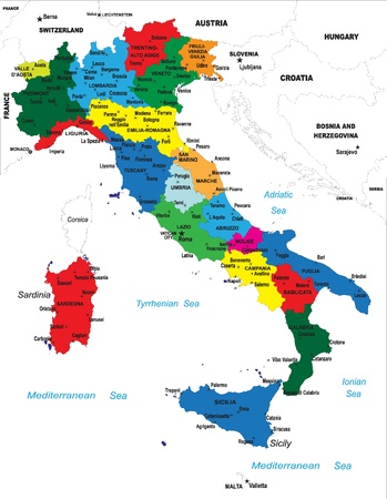 rome italie: Carte de l'Italie