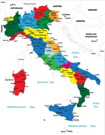 Italien-Karte