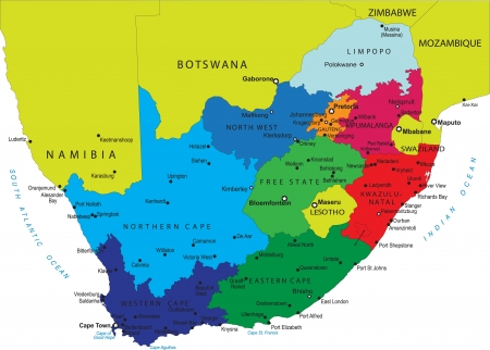 political map: South Africa map