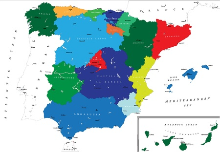 political map: Spain map