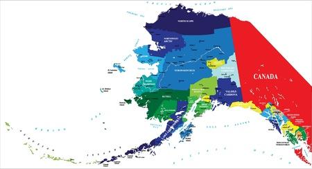 State of Alaska map Stock Vector - 14379379