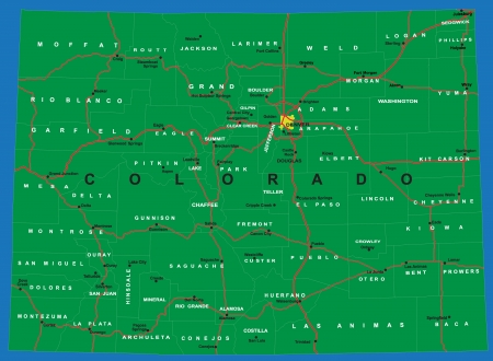 colorado: State of Colorado political map
