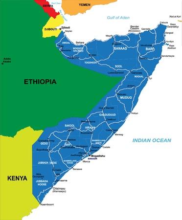 Somalia map Vetores