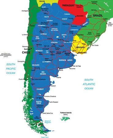 corrientes: Argentina map Illustration