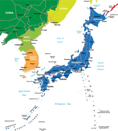 honshu: Japan map