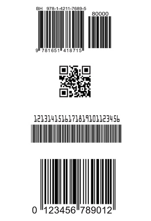 Set of fake barcodes Vector