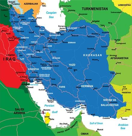 iran: Iran map Illustration